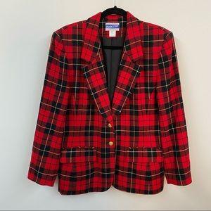 Vintage Pendleton Wool Plaid Blazer Jacket